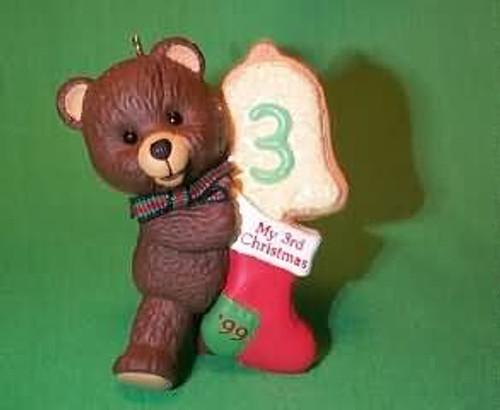 1999 Child's 3rd Christmas - Bear