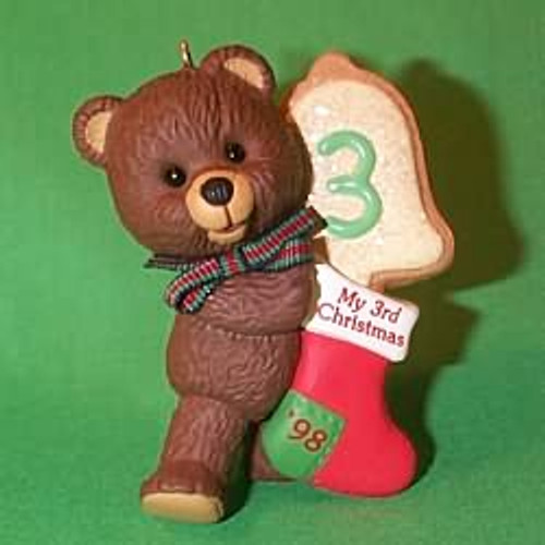 1998 Child's 3rd Christmas - Bear