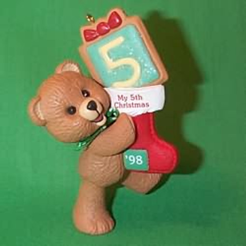1998 Child's 5th Christmas - Bear