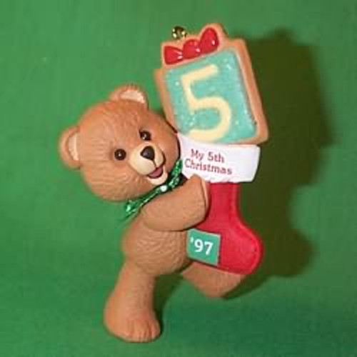 1997 Child's 5th Christmas - Bear