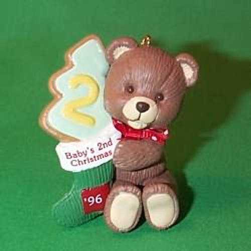 1996 Baby's 2nd Christmas - Bear