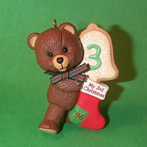1996 Child's 3rd Christmas - Bear