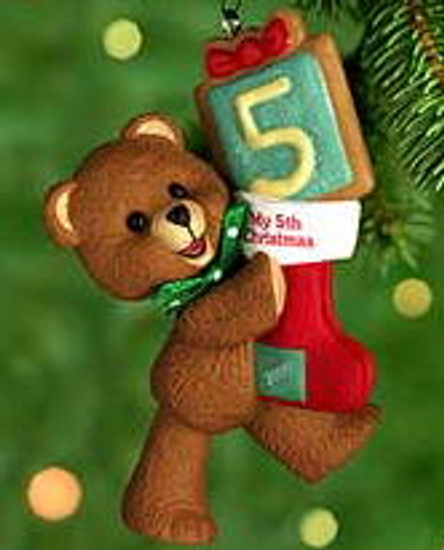 2000 Child's 5th Christmas - Bear Hallmark Ornament