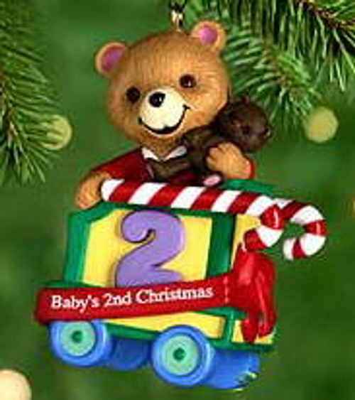2000 Baby's 2nd Christmas- Bear Hallmark Ornament