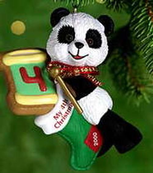 2000 Child's 4th Christmas - Bear Hallmark Ornament