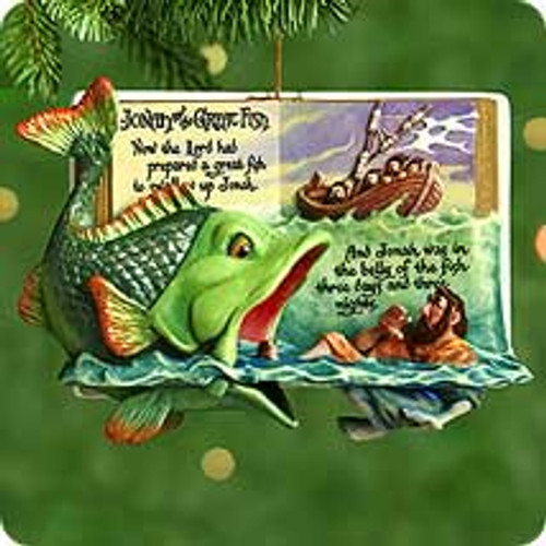 2000 Favorite Bible Stories #2 - Jonah And Whale Hallmark Ornament