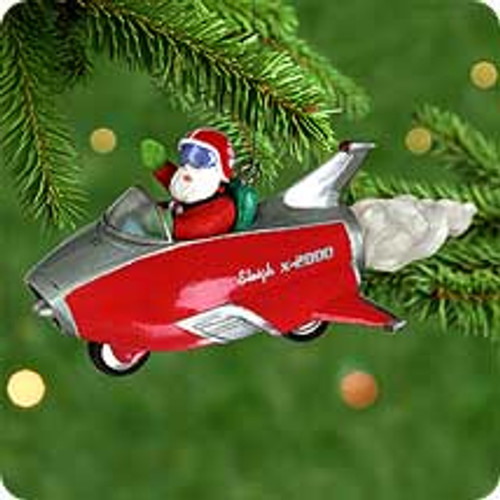 2000 Here Comes Santa #22 - Rocket Hallmark Ornament