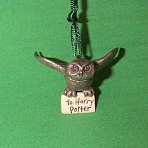 2000 Harry Potter - Hedwig The Owl Hallmark Ornament