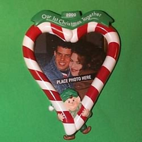 2000 1st Christmas Together - Photo Hallmark Ornament