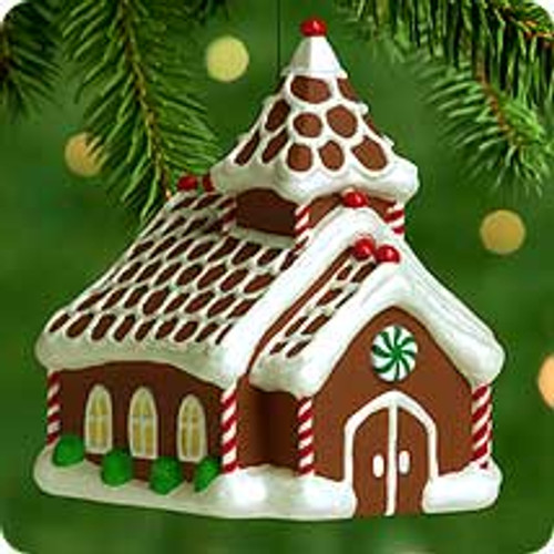 2000 Gingerbread Church Hallmark Ornament