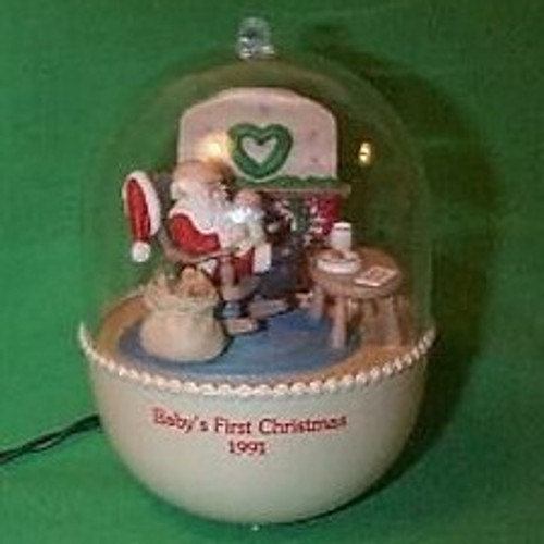 1991 Babys 1st Christmas - Lighted