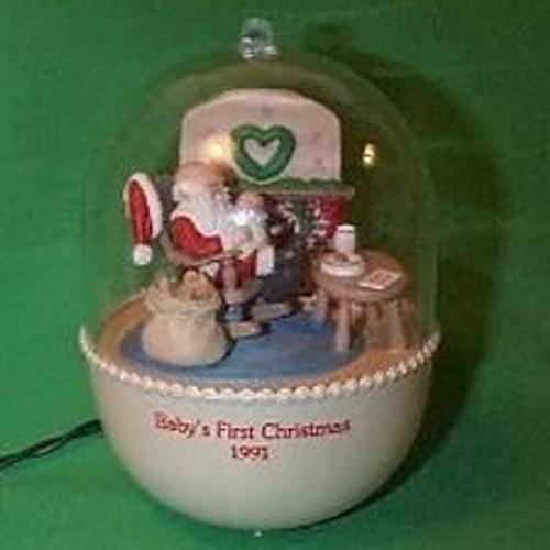 1991 Babys 1st Christmas - Lighted