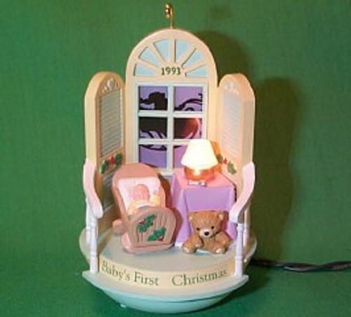 1993 Babys 1st Christmas - Lighted