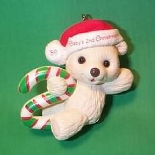 1989 Babys 2nd Christmas - Bear
