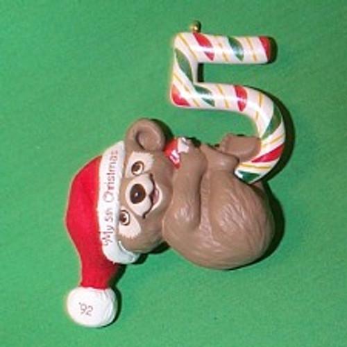 1992 Childs 5th Christmas - Bear
