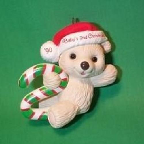 1990 Babys 2nd Christmas - Bear