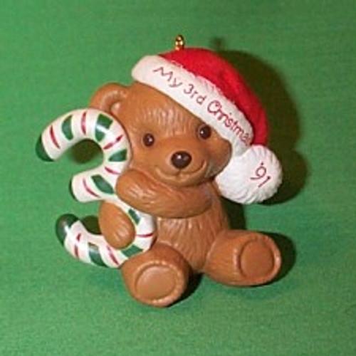 1991 Childs 3rd Christmas - Bear
