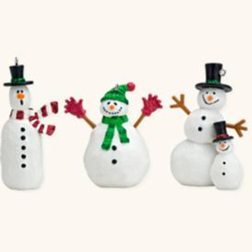 2008 Friendly Snowmen - Set of 3 Mini