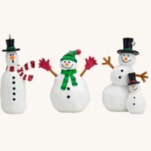 2008 Friendly Snowmen - Set of 3 Mini