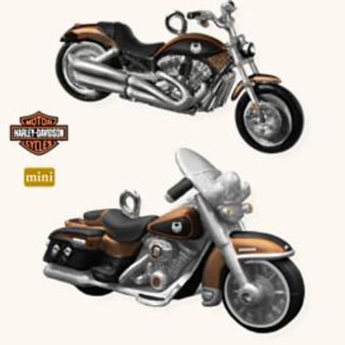 2008 Harley Davidson - Mini - Set of 2