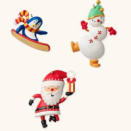 2008 Santas Merry Crew Mini Set of 3