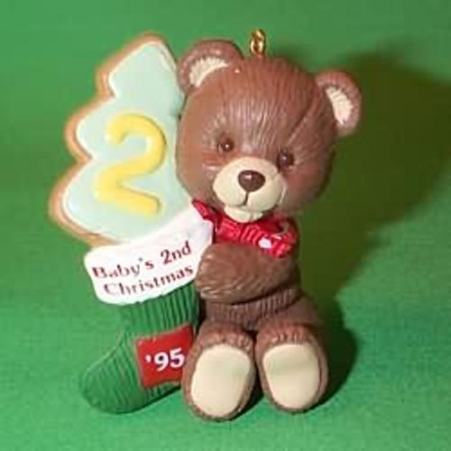 1995 Baby's 2nd Christmas - Bear