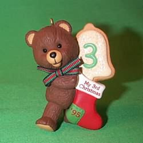 1995 Child's 3rd Christmas - Bear