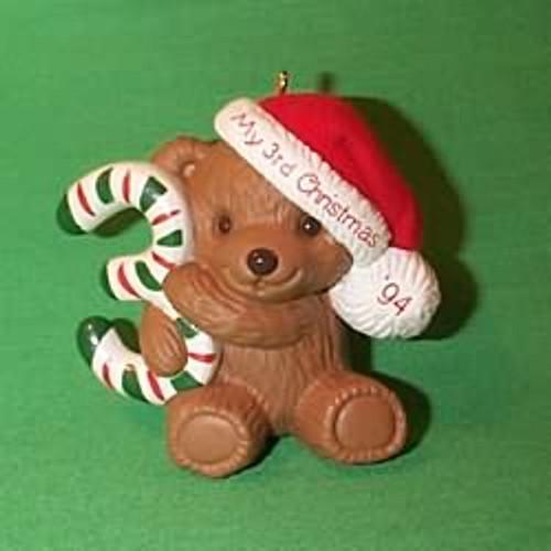 1994 Child's 3rd Christmas - Bear
