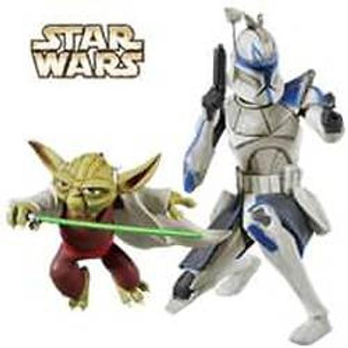 2010 Star Wars - Master Yoda And Captain Rex