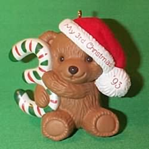 1993 Childs 3rd Christmas - Bear