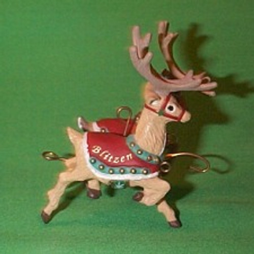 1992 Santa And Reindeer - Donder And Blitzen