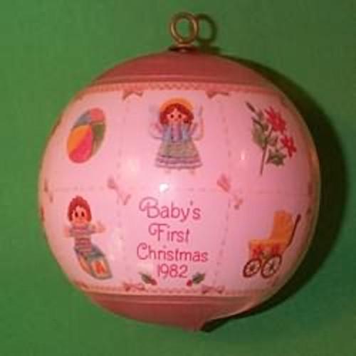 1982 Babys 1st Christmas - Girl