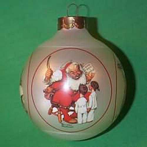 1985 Norman Rockwell - Santa Scenes