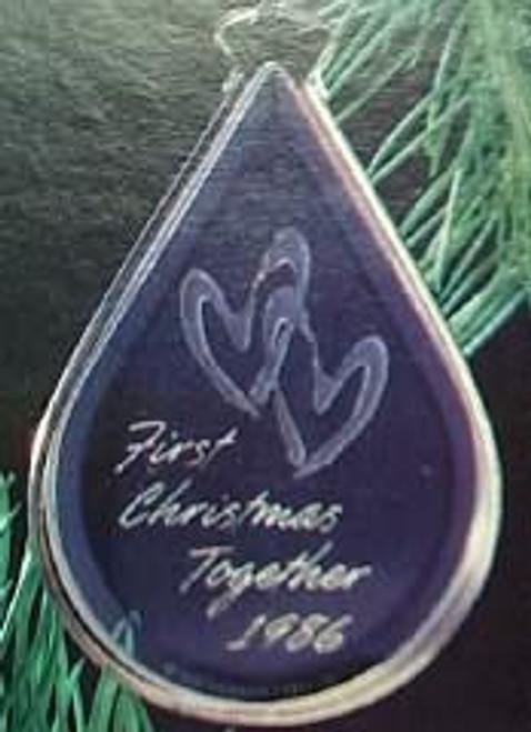 1986 1st Christmas Together - Acrylic