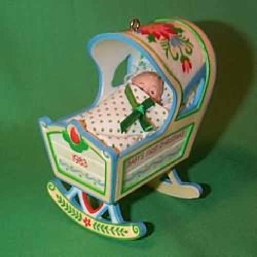1983 Babys 1st Christmas - Cradle