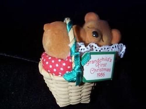 1986 Grandchild's 1st Christmas - Bear