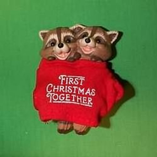 1987 1st Christmas Together - Raccoons