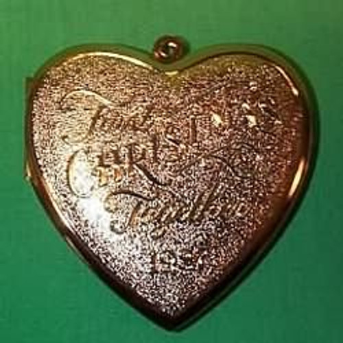 1987 1st Christmas Together - Locket