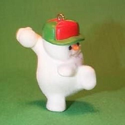 1985 Snow Pitching Snowman