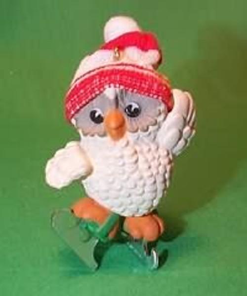 1985 Ice Skating Owl