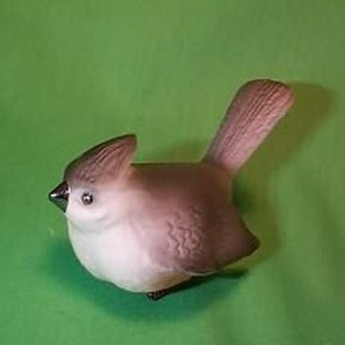 1985 Porcelain Bird - Tufted Titmouse