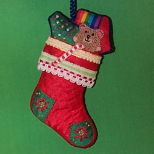 1983 Embroidered Stocking