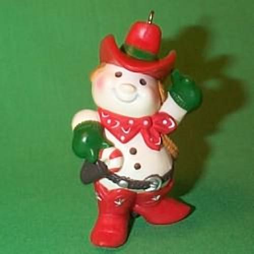 1982 Cowboy Snowman
