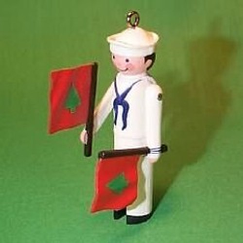 1987 Clothespin Soldier #6F - Sailor