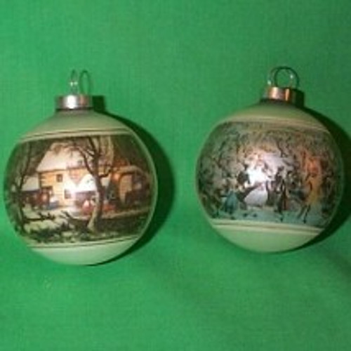 1975 Currier and Ives - 2 Pc