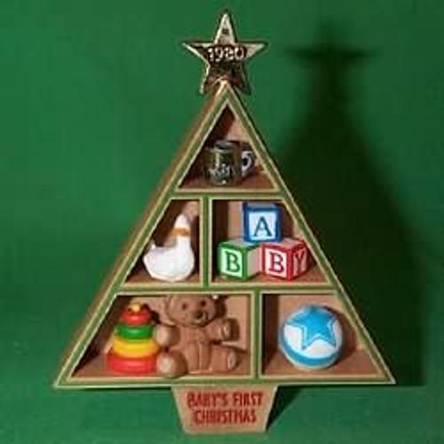 1980 Baby's 1st Christmas - Shadow Box