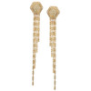 Favo Two on One  Earring in 14K Yellow Gold with Diamonds