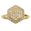 Hexagon Ring in 14K Yellow Gold with Diamonds
