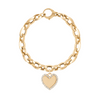 GiGi's Favorite Heart with Charm Bracelet in 14k Yellow Gold With Diamonds