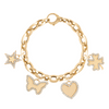 GiGi's Favorite Charm Bracelet in 14K Yellow Gold and Diamonds